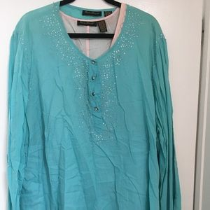 Ashley Stewart long sleeve blouse